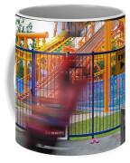 Rollercoasters At Amusement Park Coffee Mug