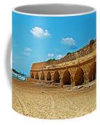 Roman Aqueduct From Mount Carmel 12 Km Away To Mediterranean Shore In Caesarea-israel  Coffee Mug