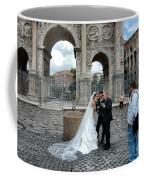 Roman Colosseum Bride And Groom Coffee Mug