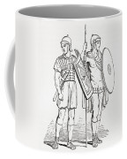 Roman Infantry Soldiers, After Figures On Trajans Column.  From The Imperial Bible Dictionary Coffee Mug