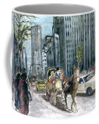 New York 5th Avenue Ride - Fine Art Coffee Mug