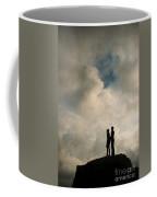 Romantic Couple On A Mountain Peak Coffee Mug