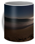 Romantic Moonlight Ocean Sand Beach Long Exposure Coffee Mug