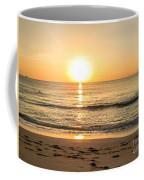 Romantic Ocean Swim At Sunrise Coffee Mug
