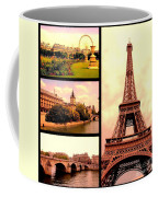 Romantic Paris Sunset Collage Coffee Mug