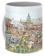 Rome Overview From The Borghese Gardens Coffee Mug by Anthony Butera
