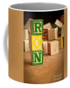 Ron - Alphabet Blocks Coffee Mug