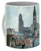 Roofs Of Old Rouen Grey Weather  Coffee Mug