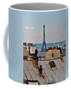 Rooftops Of Paris And Eiffel Tower Coffee Mug