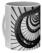 Rookery Building Looking Up The Oriel Staircase - Black And White Coffee Mug