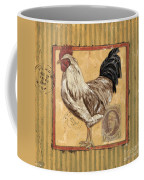 Rooster And Stripes Coffee Mug by Debbie DeWitt