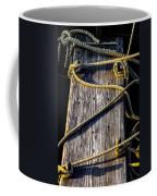 Rope And Wood Sidelight Textures Coffee Mug