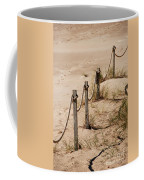 Rope And Wooden Fence Coffee Mug