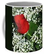 Rose And Baby's Breath Coffee Mug