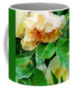 Rose And Leaves On A Rainy Day Coffee Mug
