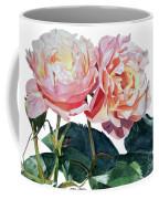 Pink And Yellow Rose Anne Coffee Mug