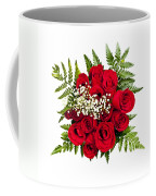 Rose Bouquet From Above Coffee Mug