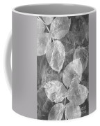 Rose Clippings Mural Wall 2 - Black And White Coffee Mug
