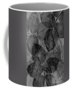 Rose Clippings Mural Wall - Black And White Coffee Mug