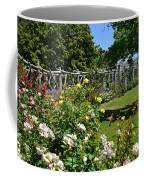 Rose Garden And Trellis Coffee Mug
