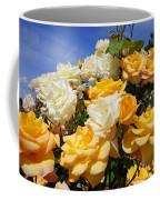 Rose Garden Art Prints Yellow Orange Rose Flowers Coffee Mug