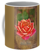 Rose Greeting Card Birthday Coffee Mug