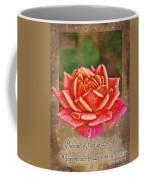 Rose Greeting Card With Verse Coffee Mug
