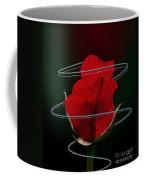 Rose In A Dark Coffee Mug