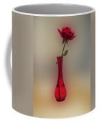 Rose In A Vase Coffee Mug by Thomas Woolworth