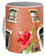 Rose On Brownstone Coffee Mug
