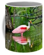 Roseate Spoonbill Wading Coffee Mug