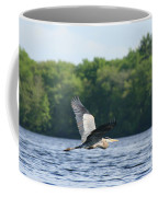 Roseland Lake Great Blue Heron Fly By  Coffee Mug