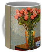 Roses And A Chinese Bowl Coffee Mug