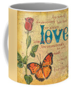 Roses And Butterflies 2 Coffee Mug