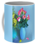 Roses And Flowers In A Vase Coffee Mug