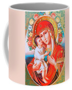 Roses And Holy Family Coffee Mug