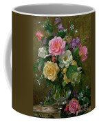 Roses In A Glass Vase Coffee Mug by Albert Williams