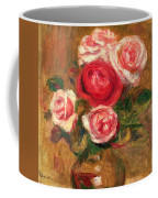 Roses In A Pot Coffee Mug by Pierre Auguste Renoir