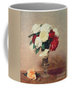 Roses In A Vase With Stem Coffee Mug