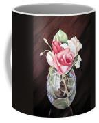 Roses In The Glass Vase Coffee Mug by Irina Sztukowski
