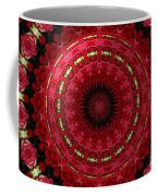 Roses Kaleidoscope Under Glass 12 Coffee Mug
