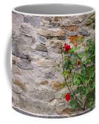 Roses On A Stone Wall Coffee Mug