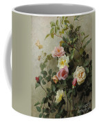 Roses On A Wall Coffee Mug