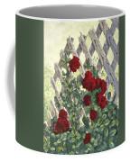 Roses On Lattice Coffee Mug