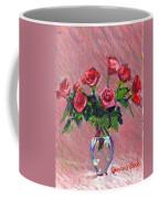 Roses On Pink Coffee Mug