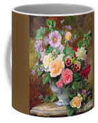 Roses Pansies And Other Flowers In A Vase Coffee Mug by Albert Williams