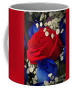 Roses - Red White And Blue Coffee Mug