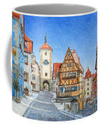 Rothenburg Germany Coffee Mug by Mike Rabe