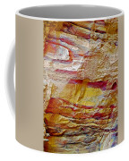 Rough And Red Rock In Petra-jordan  Coffee Mug