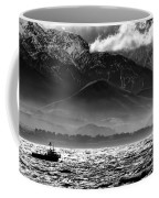Rough Seas Kaikoura New Zealand In Black And White Coffee Mug